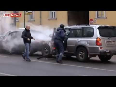 GTA V: Moscow - жесткая битва нарушителя, водителей и дпс