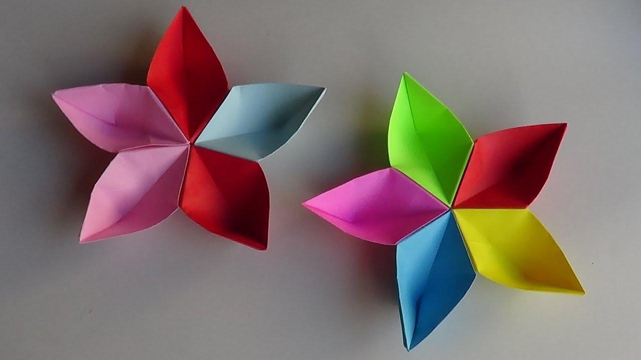flor modular de papel origami sakura youtube. Black Bedroom Furniture Sets. Home Design Ideas