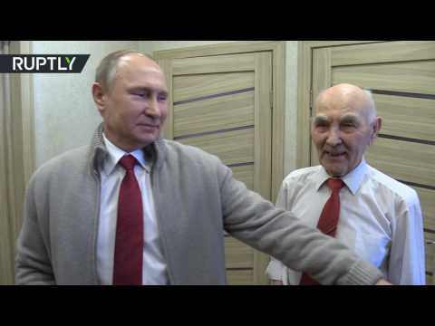بوتين يزور مديره السابق في الـ كي جي بي في عيد ميلاده الـ90