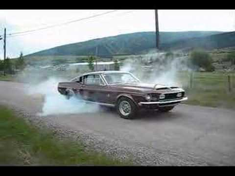 1968 Shelby Mustang GT500 Burnout Video