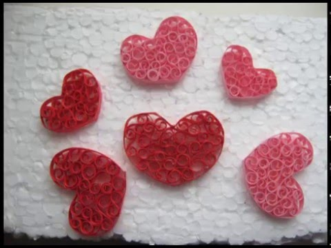 Сердце из бумаги в технике квиллинг. Квиллинг для начинающих. Мастер-класс.Quilling hart