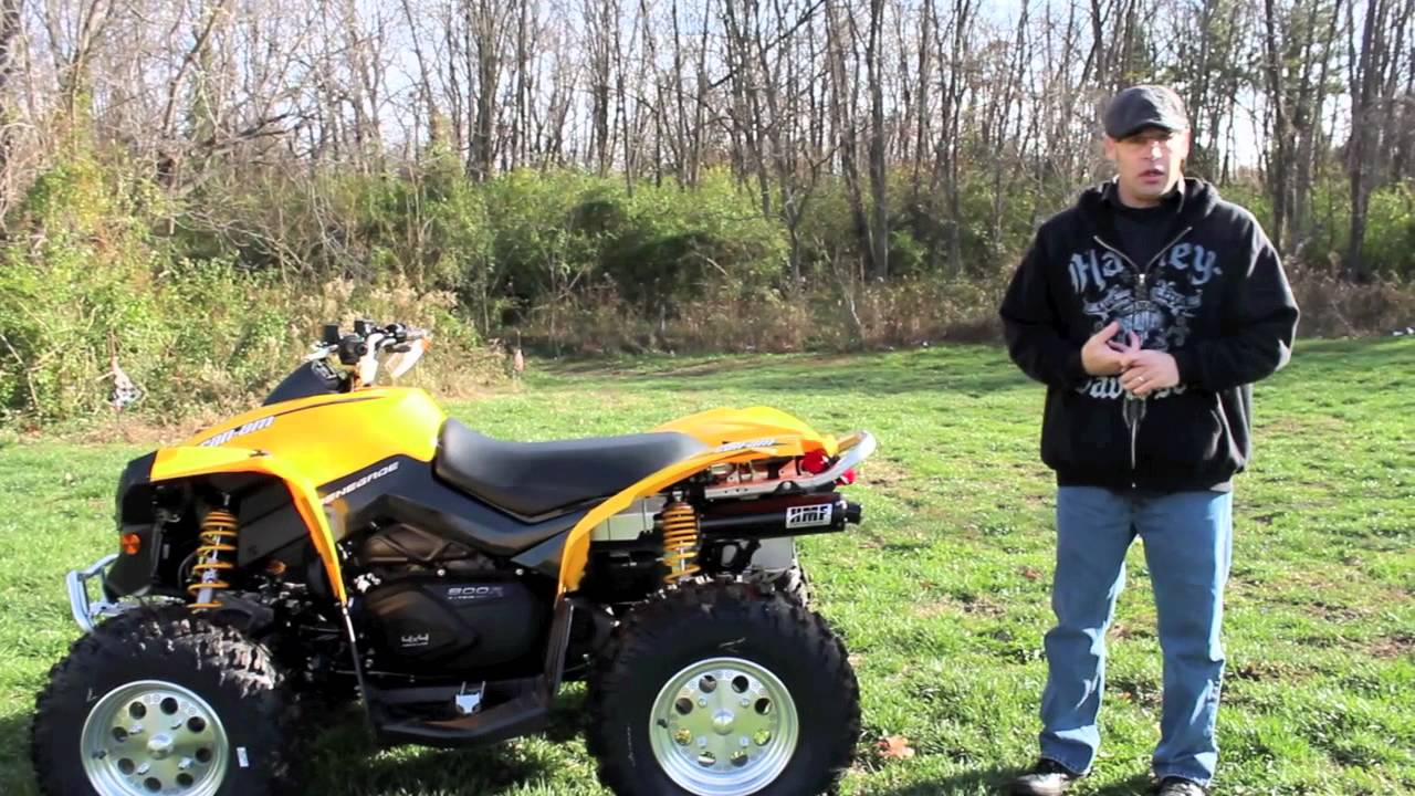 Can Am Renegade 800 >> HMF Pipe on Can-Am Renegade 800 - YouTube