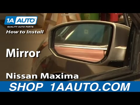 How To Install Replace Side Rear View Mirror Nissan Maxima 04-08 1AAuto.com