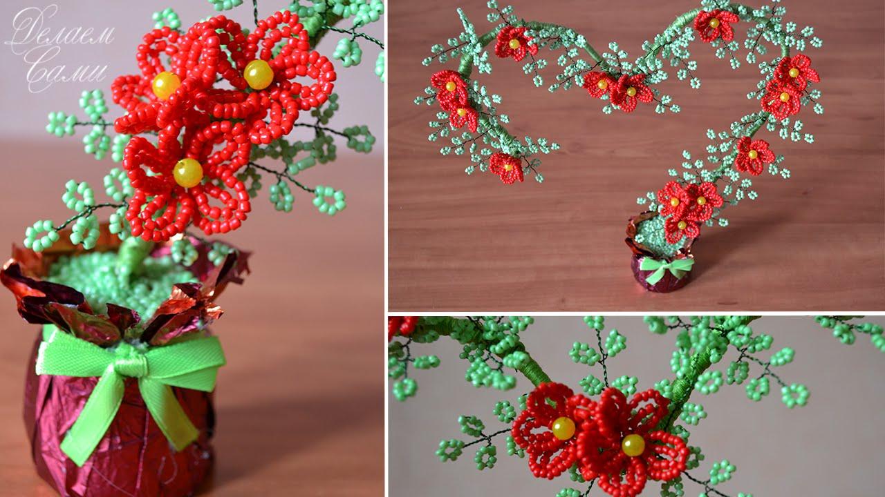 Показать поделки из бисера цветы 89