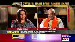 Shri Amit Shah at Frankly Speaking on Times Now 13 Nov 2018