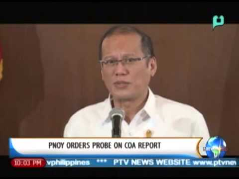 NewsLife: President Aquino orders probe on COA report