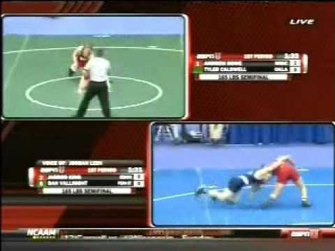 Dan Vallimont of Penn State vs Jarrod King of Edinboro 2010 NCAA Nationals (Pt.1)