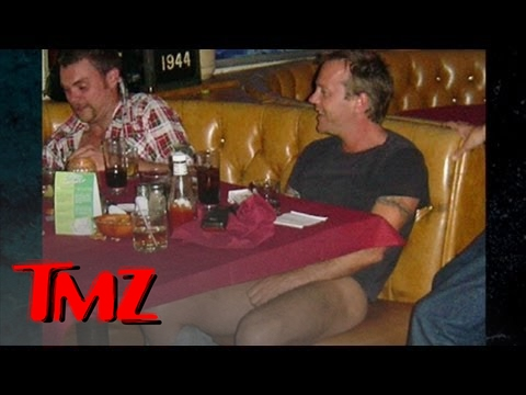 Kiefer Sutherland -- Shirtless and Soberless in Canada