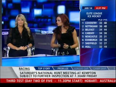 WWE Divas Kelly Kelly and Maria on Sky Sports News