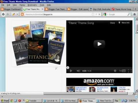 Free Titanic Movie Song Download. video