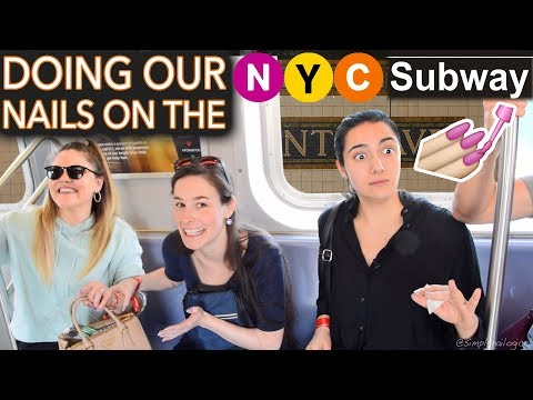 Painting our Nails on the NYC Subway ft. Safiya & Threadbanger (expert level)