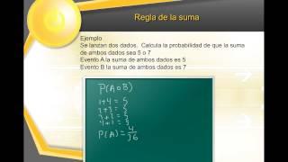 probabilidad regla de la suma