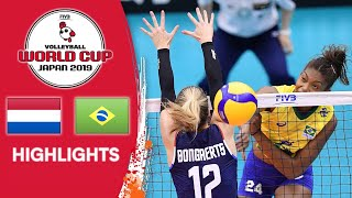 NETHERLANDS vs. BRAZIL - Highlights | Women's Volleyball World Cup 2019