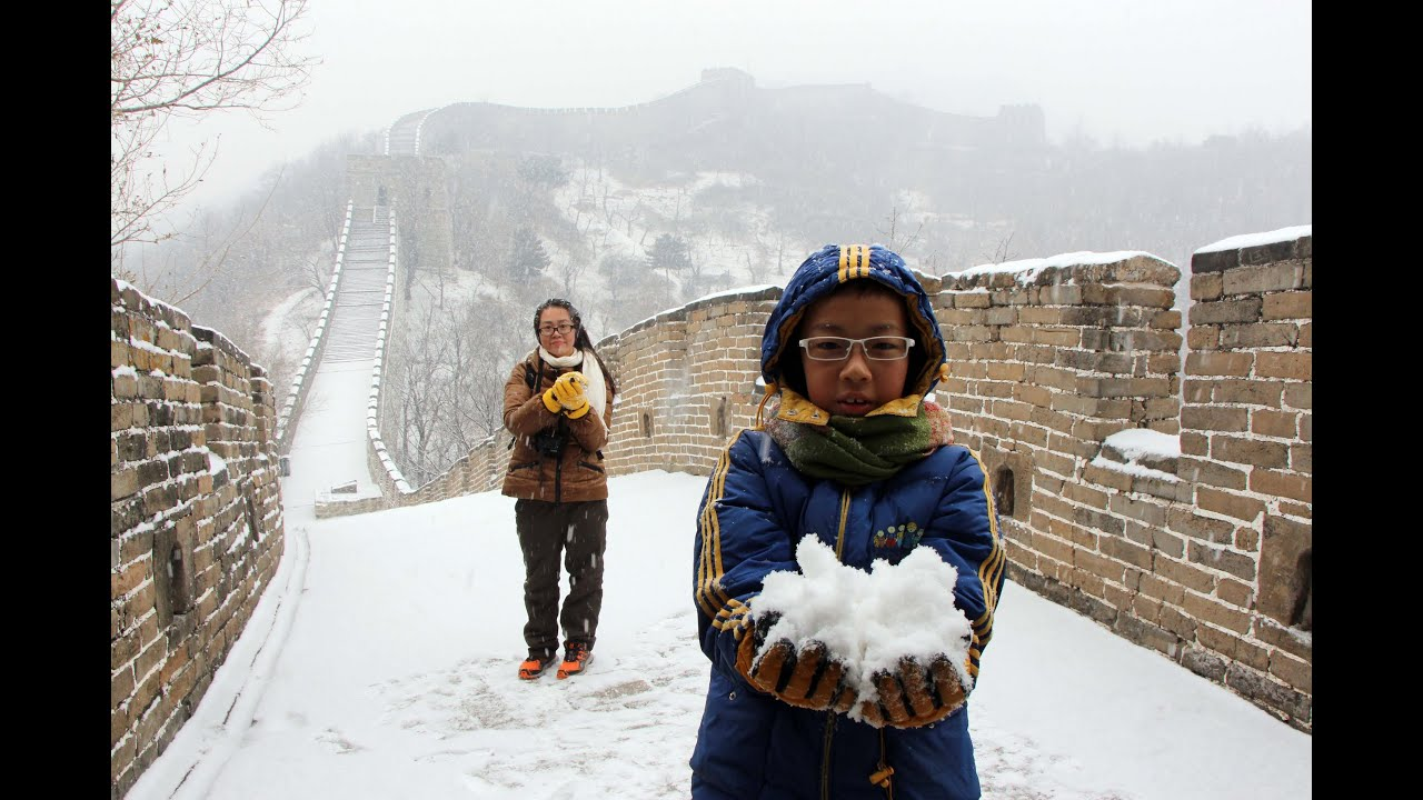Great Wall Of China Hiking In Winter Youtube