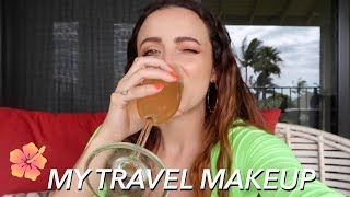 GRWM IN HAWAII + What's in my makeup bag