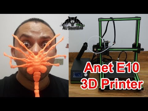 Anet E10 DIY Desktop 3D Printer Kit complete review