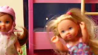 Barbie Doll Morning Routine w  baby dolls bunk bed new Bike and bbq party 2018