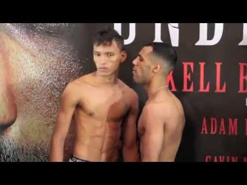 KAL YAFAI v CRISTOFER ROSALES - OFFICIAL WEIGH IN VIDEO FROM SHEFFIELD - 'UNBREAKABLE'