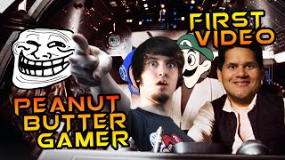 PeanutButterGamer First Video! (First Known Video) | Youtubers First Videos | Youtubers First Time