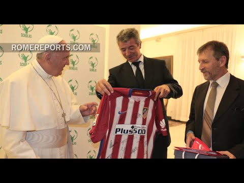 How does Pope Francis promote peace through soccer?