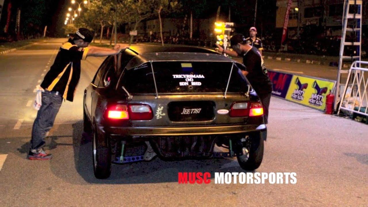 CAR DRAG RACE - VTEC PRO STREET - MALAYSIAN DRAG RACING 2013 - YouTube