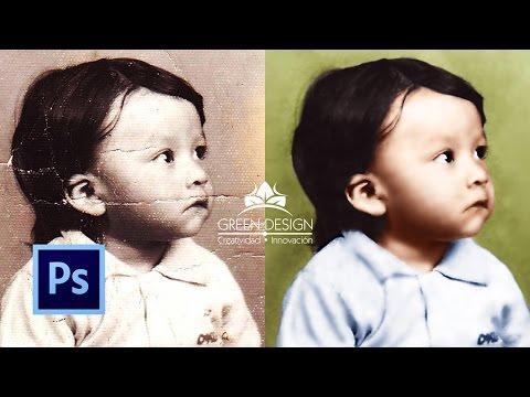 Tutorial Photoshop | Restaurar y colorear fotografía antigua