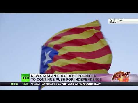 New Catalan president promises to continue push for independence
