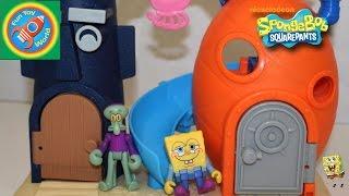 SpongeBob SquarePants Bikini Bottom Playset Toy Review Fisher-Price Imaginext Nickelodeon