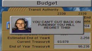 SimCity 2000 (Sega Saturn) - Budget Advisors