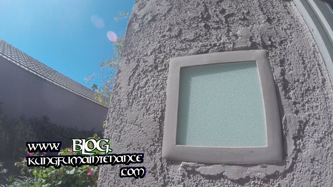 how to replace change out exterior square recessed light fixture glass
