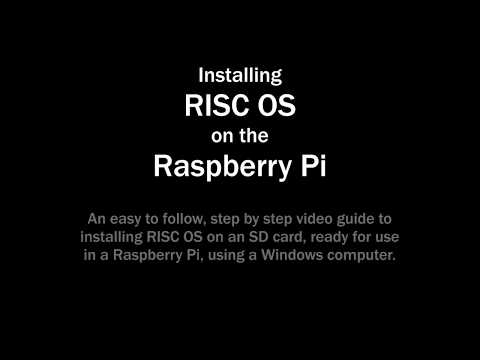 Installing RISC OS for use on a Raspberry Pi