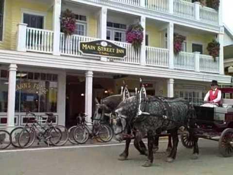 """Shawn  the Tourist""  on Mackinac Island"