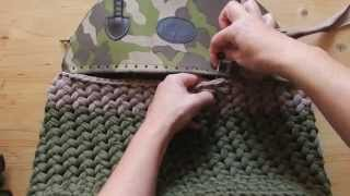 Borsa con parte superiore in pelle|tutorial