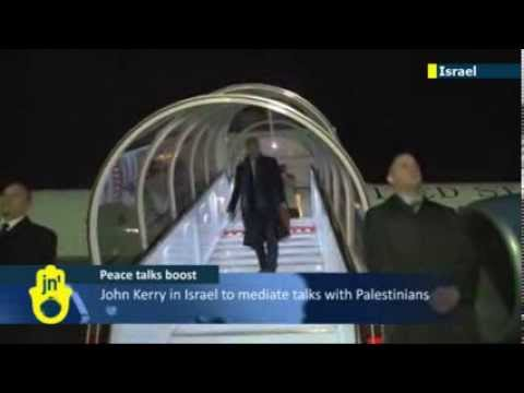 John Kerry in Israel to mediate talks with Palestinians