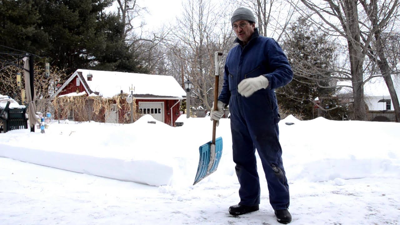 The Ultimate Snow Shovel Trick