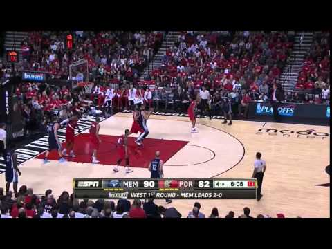 NBA, playoff 2015, Trail Blazers vs. Grizzlies, Round 1, Game 3, Move 45, Marc Gasol, 2 pointer
