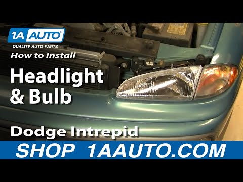 How To Install Replace Headlight and Bulb Dodge Intrepid 93-97 1AAu