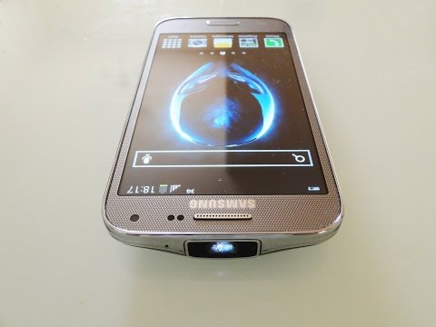 Samsung Galaxy BEAM 2 Review/Hands-on Built-in projector Smartphone of the next Gen.
