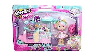 Shopkins Season 8 World Vacation Shoppies Doll Peppa Mint's Gelati Scooter Unboxing Toy Review