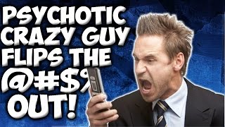 "BO3: PSYCHOTIC CRAZY GUY FLIPS OUT IN 1V1 GUN GAME! ""BLACK OPS 3 TROLLING"""