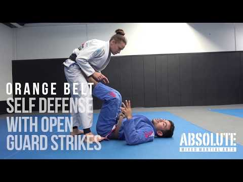 Kids BJJ Orange Belt  - Self Defence with Open Guard Strikes