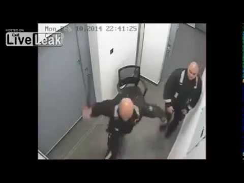 Police abuses a prisoner for not cooperating. Cyprus Police Brutality