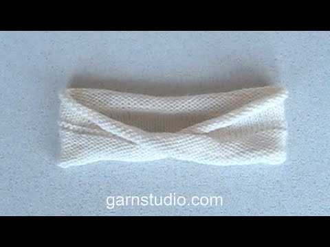 How to knit a Moebius (Möbius) ring