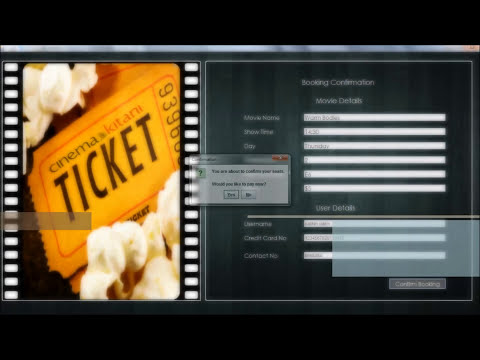 Movie Tickets Booking and Reservation Kiosk System (Java)