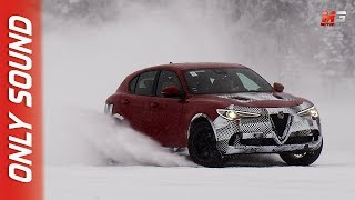 NEW FCA WHAT'S BEHIND ALFA ROMEO STELVIO 2019 - ICE TEST DRIVE ONLY SOUND