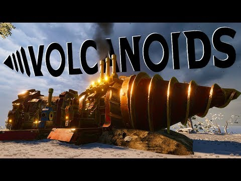 Robotic Humanoids Attack My Drillship - Upgrading & Expanding My Drillship - Volcanoids Gameplay