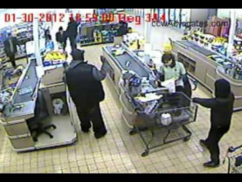 Armed Customer Stops Armed Robber In Wisconsin video