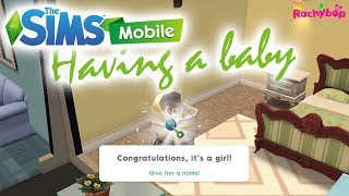 The Sims Mobile: Having a baby