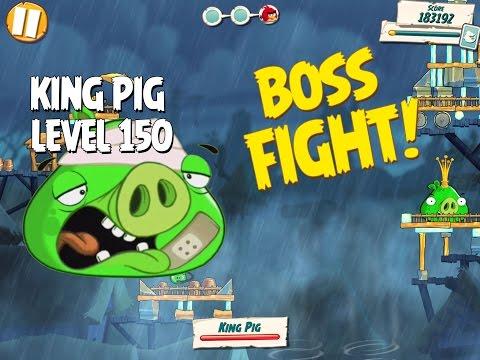 Boss Fight #15! King Pig Level 150 Walkthrough   Angry Birds Under Pigstruction