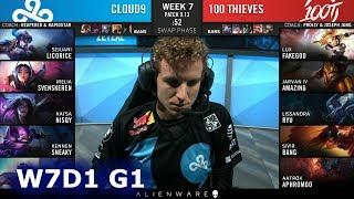 C9 vs 100 | Week 7 Day 1 S9 LCS Summer 2019 | Cloud 9 vs 100 Thieves W7D1